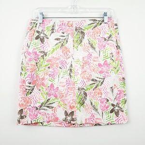 J. Jill | Tropical Floral Live-In Chino Mini Skirt